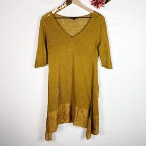 [EILEEN FISHER] Mustard Linen Silk Tunic Dress
